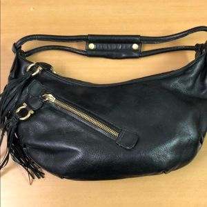 Salvatore Ferragamo Leather Fringe Bag